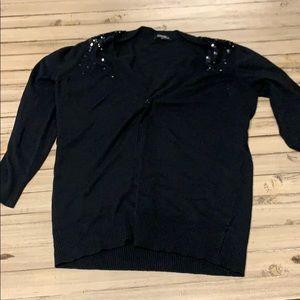Black sequin cardigan